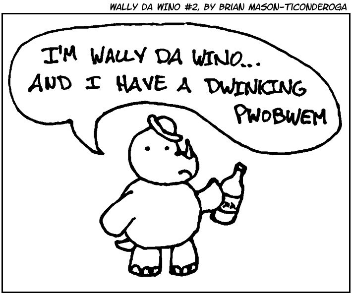 Wally da Wino #2, by Brian Mason-Ticonderoga